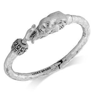 Silver lucky brand elephant bracelet